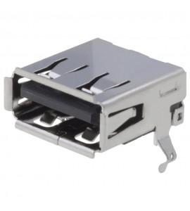 USB-A ZÁSUVKA 4PIN DPS THT 90°