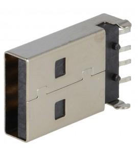 USB-A ZÁSTRČKA 4PIN DPS SMT