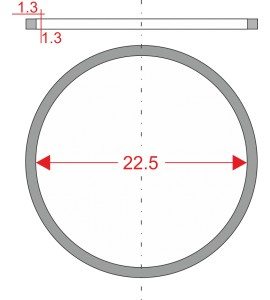 GUMIČKA Ø22.5mm 1.3x1.3mm...