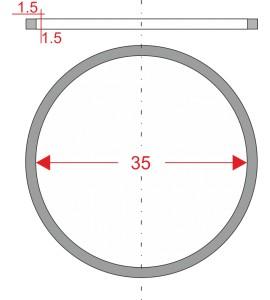 GUMIČKA Ø35mm 1.5x1.5mm PRE...