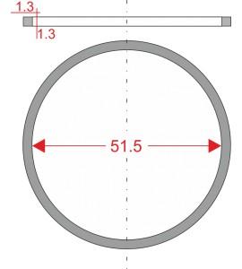 GUMIČKA Ø51.5mm 1.3x1.3mm...