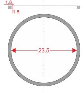 GUMIČKA Ø23.5mm 1.8x1.8mm...