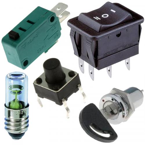 Spínače, prepínače a kontrolky pre elektroniku | VIACEJ.sk