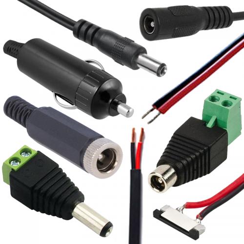 Konektory a káble na prepojenie DC napájania | VIACEJ.sk