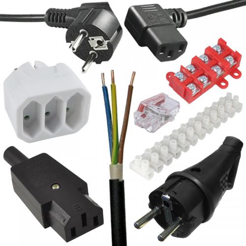 Elektroinštalačné zásuvky, koncovky a káble | VIACEJ.sk