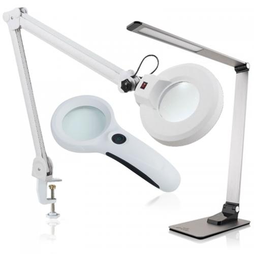 Ručné, náhlavné, stolové lampy, lupy a tretie ruky | VIACEJ.sk